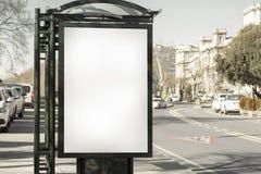 Cartelera en blanco fotografía de archivo libre de regalías