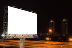 Cartelera en blanco en la hora crepuscular para el anuncio Fotos de archivo libres de regalías
