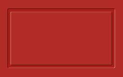 Cartelera en blanco roja Fotografía de archivo libre de regalías