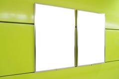Cartelera en blanco vertical Fotografía de archivo