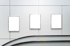Cartelera en blanco vertical grande tres Fotografía de archivo