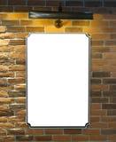 Cartelera o cartel en blanco Fotos de archivo