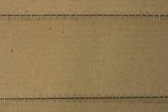 Cartelera vacía hecha de la caja de papel Foto de archivo