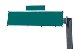 Cartelera verde en blanco del tráfico Fotos de archivo