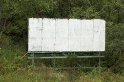 Cartelera vieja en blanco Foto de archivo libre de regalías