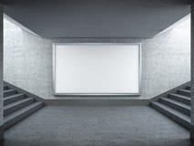 Cartelera y escalera en blanco adentro subterráneamente libre illustration