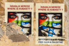 Carteles de Gaza Imagen de archivo libre de regalías