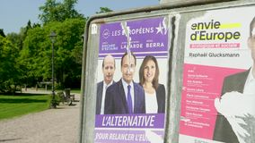 2019 carteles de la elecci?n del Parlamento Europeo almacen de metraje de vídeo
