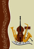 Carteles de la música de la plantilla Imagenes de archivo