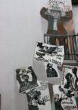 Carteles de la protesta de la unión Imágenes de archivo libres de regalías