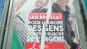 2019 carteles de los candidatos de la elecci?n del Parlamento Europeo almacen de video