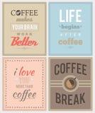 Carteles del café Imagen de archivo libre de regalías