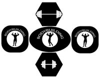 Carteles del levantamiento de pesas Foto de archivo libre de regalías