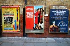 Carteles del teatro del West End Imagen de archivo libre de regalías