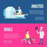 Carteles del tratamiento médico y de la atención sanitaria stock de ilustración