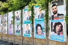 Carteles políticos de Italia Fotografía de archivo libre de regalías