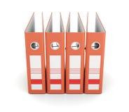 Cartella arancio dell'ufficio, vista frontale isolata su fondo bianco 3 Immagine Stock Libera da Diritti