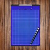Cartella con carta e la penna, concetto di affari Fotografie Stock