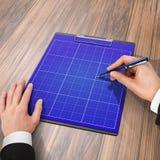 Cartella con carta e la penna, concetto di affari Fotografia Stock