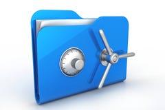 Cartella con la serratura sicura Immagini Stock
