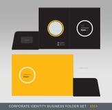 Cartella-concetto 04 di affari di identità corporativa Fotografie Stock