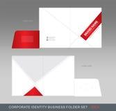 Cartella-concetto 02 di affari di identità corporativa Fotografia Stock
