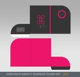 Cartella-concetto 06 di affari di identità corporativa Immagine Stock