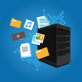 Cartella del email di immagine del documento di dati del file server video Fotografie Stock
