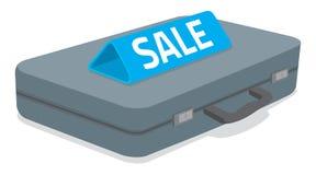 Cartella di affari con il segno di vendita su  Fotografia Stock Libera da Diritti