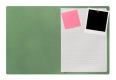 Cartella di archivio aperto in bianco Immagine Stock