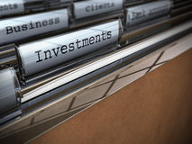 Cartella di investimenti e di affari Fotografie Stock Libere da Diritti