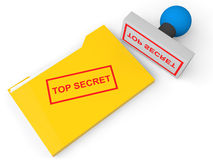 cartella e bollo di archivio top-secret 3d Immagini Stock