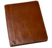 Cartella marrone di cuoio immagine stock