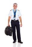 Cartella pilota di linea aerea Fotografia Stock Libera da Diritti