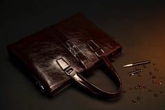 Cartella rossa Fotografia Stock
