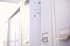Cartelle di archivio, stanti sugli scaffali in Immagini Stock Libere da Diritti