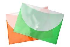 Cartelle di plastica immagine stock
