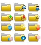 Cartelle impostate - cartelle 09 di applicazioni del Internet Immagine Stock