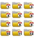 Cartelle impostate - cartelle 18 di applicazioni dell'ufficio Immagini Stock Libere da Diritti