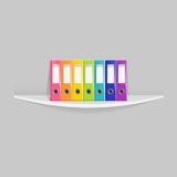 Cartelle isolate di rosa del meccanismo dell'arco dell'ufficio di clipart messe fotografie stock libere da diritti