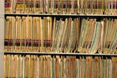 Cartelle sanitarie Fotografia Stock Libera da Diritti
