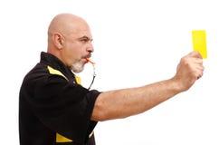 Cartellino giallo! Fotografia Stock Libera da Diritti