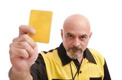 Cartellino giallo! Fotografia Stock