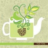 Cartellino marcatempo del tè Immagini Stock