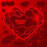 Cartellino rosso astratto per il San Valentino Fotografia Stock Libera da Diritti