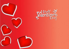 Cartellino rosso/fondo di giorno di biglietti di S. Valentino Fotografia Stock