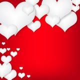 Cartellino rosso/fondo di giorno di biglietti di S. Valentino Immagini Stock
