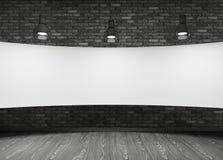 Cartello bianco nella stanza Fotografie Stock Libere da Diritti