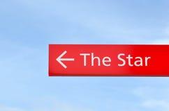 Cartello con la manifestazione della freccia il modo alla stella Sydney New South Wales Australia Immagine Stock Libera da Diritti
