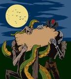 Cartello del mostro Immagini Stock